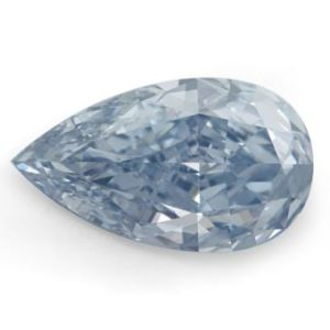 picture of 1.14 carat pear shape diamond, fancy intense blue color, vs1 clarity